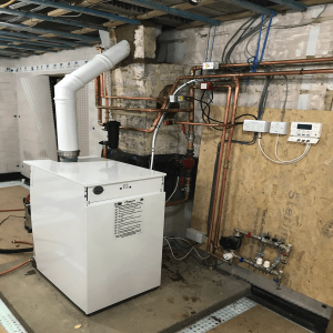 Oil Boiler Worcester Bosch-65kw manor house boiler replacement with 4 unvented cylinders flexible flue liner Charlbury OX7-Oxfordshire